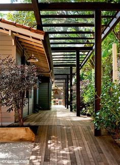 The wooden pergola is a good solution to add beauty to your garden. If you are not ready to spend thousands of dollars for building a cozy pergola then you may devise new strategies of trying out something different so that you can re Outdoor Rooms, Outdoor Living, Outdoor Furniture, Landscape Design, Garden Design, Landscape Steps, Patio Design, Verge, Design Exterior