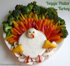 Veggie Platter Thankgiving Turkey