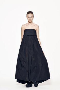 Long Black Dress Strapless Dress Off Shoulder by MariaQueenMaria