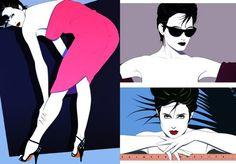80's inspiration — American artist, Patrick Nagel