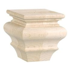 """Cherry Finished Round Bun//Furniture Feet Set of 4 Solid Wood 5 1//2/"""" Med"""