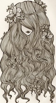 This is actually a sketch of my alter ego, Sunshine LoveRainbow PeaceFlower. Yes there is such a thing and yes I'm still devistated that mom chose Kimberly rather than the afforementioned. ^_^