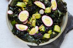KALE & QUINOA SALAD WITH BEET-PICKLED EGG — SK