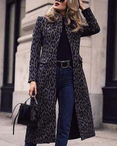 Vogue Women Leopard Short Coat Jacket Warm Winter Round Collar Cool Outdoor Hot