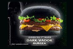 Black Darth Vader Burger - only in France