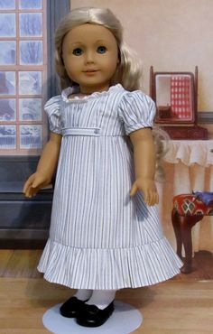 "OOAK Regency Gown, Made to Fit 18"" American Girl Doll Caroline, An Original Keepers Design"