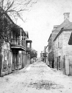 Historic photos of the week - from the collection of the Florida archives   StAugustine.com Charlotte Street 1880s