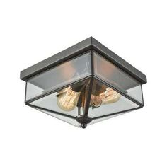 Lankford 2-Light Oil Rubbed Bronze Outdoor Flush Mount