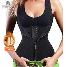 ec274eb781 Hot Shapers Neoprene Sauna Sweat Vest Waist Trainer Cincher Women Body  Slimming Trimmer Corset Workout Thermo Push Up Trainer