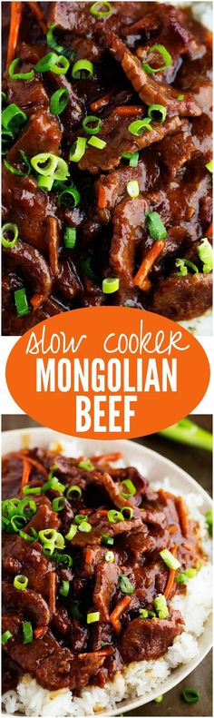 slow cooker recipes This Slow Cooker Mongolian Beef is melt in your mouth tender and has AMAZING flavor! One of the best and easiest things to make on weeknights slow cooker recipes Crockpot Dishes, Crock Pot Slow Cooker, Crock Pot Cooking, Beef Dishes, Slow Cooker Recipes, Crockpot Recipes, Crock Pots, Slow Cooker Steak, Dinner Crockpot