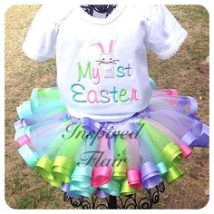 Hey, I found this really awesome Etsy listing at https://www.etsy.com/listing/183243645/easter-tutu-outfit-my-first-1st-easter