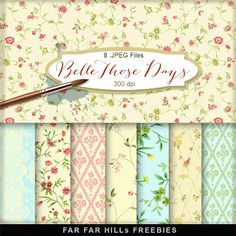 FREE New Freebies Kit of Backgrounds - Belle Those Days:Far Far Hill - Free database of digital illustrations and papers