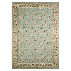 Bring country-chic style to your home with this charming design, artfully crafted for lasting appeal.  Product: RugConstruction Material: PolypropyleneColor: BlueFeatures:Machine madeNote: Please be aware that actual colors may vary from those shown on your screen. Accent rugs may also not show the entire pattern that the corresponding area rugs have.Cleaning and Care: Profesisonal cleaning recommended
