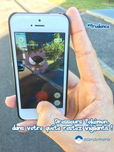 Pokémon Go : la Gendarmerie Nationale met en garde