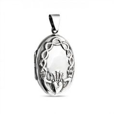 Bling Jewelry 925 Silver Celtic Knot Hands Heart Claddagh Locket Pendant >>> You can find out more details at the link of the image. (This is an affiliate link and I receive a commission for the sales) Heart Locket, Locket Necklace, Necklaces, Bling Jewelry, Jewelry Sets, Silver Jewelry, Silver Lockets, Claddagh, Black Crystals