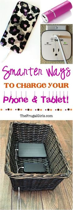 Smarter Ways to Charge your Phone and Tablet + DIY Charging Station Ideas! at TheFrugalGirls.com