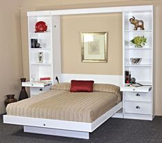 The post Bristol Birch Vertical Wall Bed w/Table by Wallbeds appeared first on Baby Room Ideas. Murphy Bed Ikea, Murphy Bed Plans, Murphy Bed Office, Bedroom Furniture, Furniture Design, Bedroom Decor, Bedroom Sets, Bedding Sets, Gold Bedroom