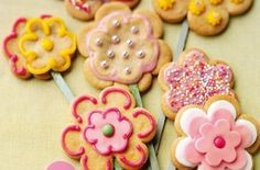 Flower Cookies: Get creative with these quick and easy flower cookies. They're ready in no time which gives you plenty of time to decorate them however you want