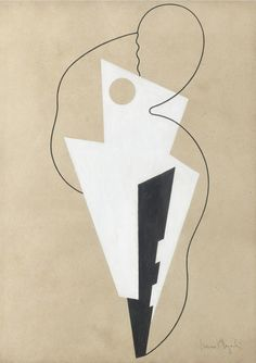 ISAMU NOGUCHI, Paris Abstraction, 1928. Gouache and ink on paper. / Mutual Art