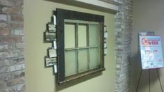 Reclaimed Cypress window and various materials used to fill an open wall...
