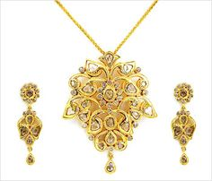 Shahji Jewelers   22kt Indian Jewelry   Jewellery from India - Houston Texas USA - All Pendant and Earring Sets