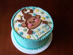 Baby shower cakes for boys, baby shower cupcakes, baby boy Torta Baby Shower, Baby Shower Cupcakes, Baby Shower Cakes Pictures, Baby Shower Cakes For Boys, Baby Shower Parties, Baby Showers, Monkey Baby Shower Decorations, Jungle Cake, Cake Videos