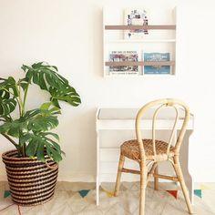 Wooden desk and shelf #macarenabilbao