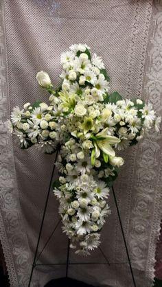 Sympathy floral cross