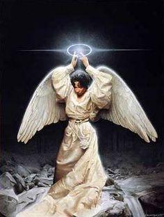 African American Paintings - Angel