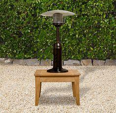 Deluxe Tabletop Propane Patio Heater Hammered Bronze
