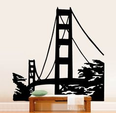 Decal sizes are available.Some wall decals may come in multiple pieces due to the size of the design.Vinyl wall decals are removable but not re-positionable. Wall Stickers Murals, Wall Decal Sticker, Vinyl Wall Decals, Wall Murals, Window Decals, All Wall, Textured Walls, Golden Gate Bridge, Interior And Exterior