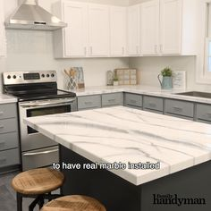 Looking to give your countertops a fresh new look? In just a few steps, you can make your kitchen look completely different with epoxy countertops. Countertop Makeover, Epoxy Countertop, Tile Countertops, Stained Concrete Countertops, Painting Laminate Countertops, Countertop Covers, Concrete Patio, Kitchen Redo, Kitchen Design
