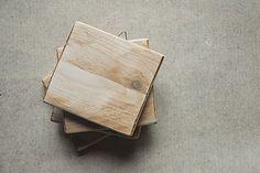 Reclaimed wood 3 1/2 x 3 1/2 tile  wood by LaBottegaDegliUsvei, €25.00