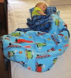 A sweet and simple idea for your young child's nap time--a DIY children's sleeping bag!