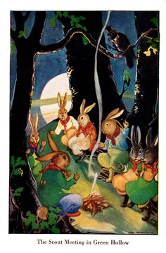 """Timothy Crunchit the Calico Bunny"" by Martha Jane Ball.  Illustrated by Gaye Woodring.  Copyright 1930 by the Laidlaw Brothers."