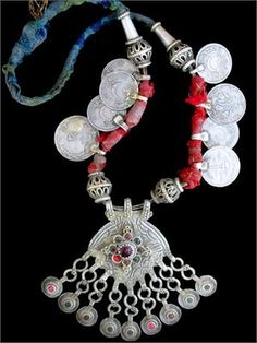 Old Kashmiri Tribal Jewelry Necklace