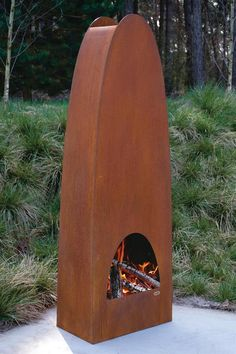 Zeno's fireplaces are Dutch-designed and crafted. And although the company's Colonna model (pictured) is not custom-built, its unique shape cast from Cor-Ten steel melds naturally into outdoor installations. Dens van Laarhoven, the company's president, says that application opportunities are many for the 5-foot-9-inch-tall design—freestanding in garden spaces, on terraces, or, with some minor adjustments, under porches.  Zeno Products. +31 40 7878789. www.zenoproducts.com.