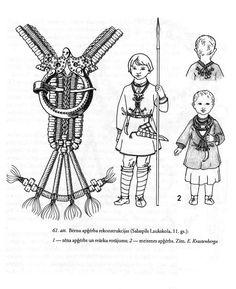 Salaspils Laukskolas bērnu tērpi. Anna Zariņa. Apģērbs Latvijā 7.-17. gs. 117. lpp.