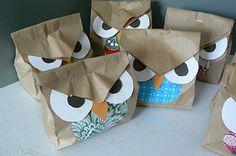 Cute Paper Bag Owls