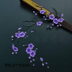 Pas cher # MG 160606 1 3 Prune Broderie Motif Fleur Coudre Sur Fer Sur Les…
