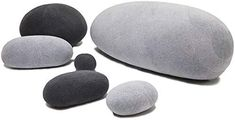 Amazon.com: WOWMAX Three-Dimensional Curve Living Stones Pillows 6 Mix Sizes Stuffed Pillows Big Rock Pillows New Pebble Pillows Light Gray and Dark Gray Mix: Home & Kitchen Three Dimensional, Throw Pillows, Rock, Stones, Grey, Big, Amazon, Kitchen, Furnitures