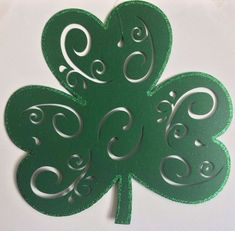 "Felt Ex Large Shamrock 16""x17"" w/ Green Glitter edge St. Patricks Decor Placemat  | eBay"