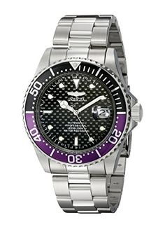 Men's Wrist Watches - Invicta Mens 18159 Pro Diver Analog Display Japanese Automatic Silver Watch -- Check this awesome product by going to the link at the image.