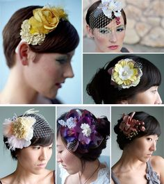 Handmade Flower Pieces are Works of Art for your Hair | Green Wedding Shoes Wedding Blog | Wedding Trends for Stylish + Creative Brides