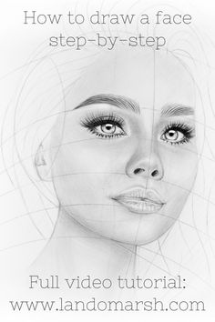 Drawing a face: tutorial for beginners