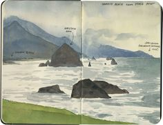Cannon Beach sketch by Chandler O'Leary