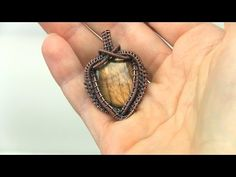 Wire Wrapped Front Drilled Bead Gemstone Pendant - YouTube