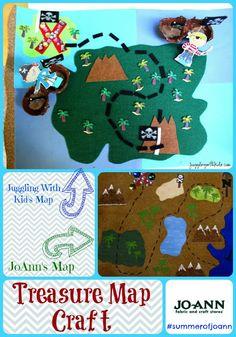Juggling With Kids: Interactive Pirate Treasure Map #SummerofJoann