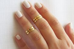 Gold ring Goldfilled stacking ring Knuckle ring by HLcollection, $24.00