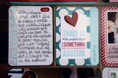 I like the card on the pp. by Mary Ann Perry